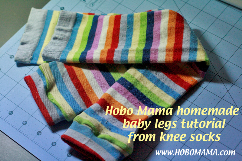 How to make your own baby leg warmers = Hobo Mama