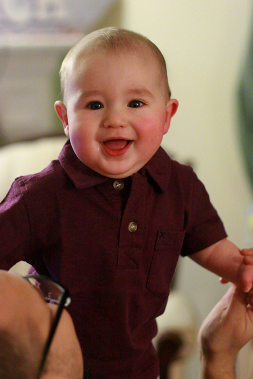 smiling baby in Fuerte polo shirt — Tea Collection giveaway