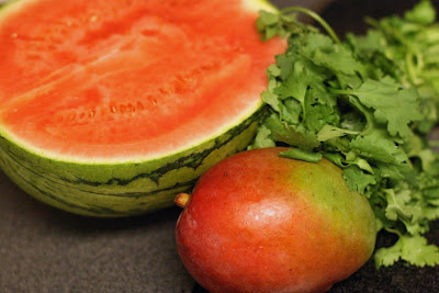 Watermelon mango smoothie recipe == dairy-free, vegan, sweetener-free = Hobo Mama