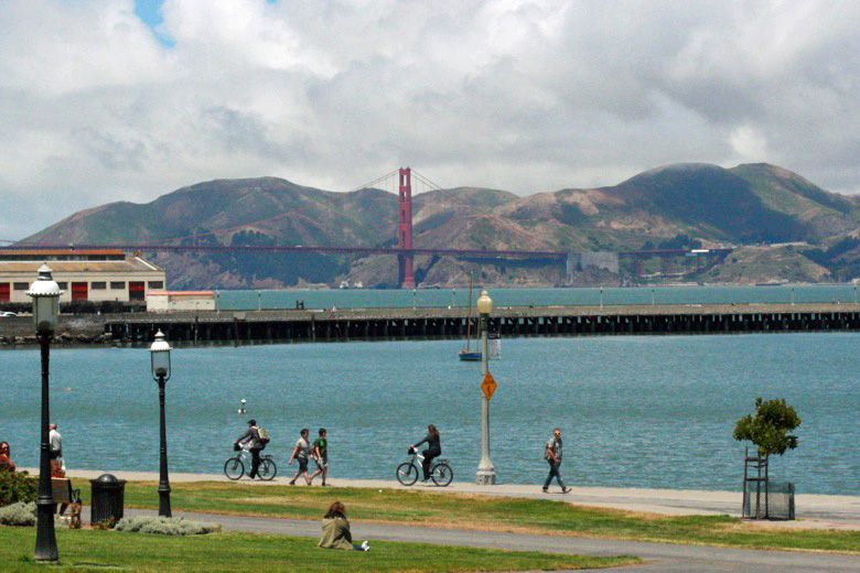 shoreline and bikes — california road trip travel san francisco