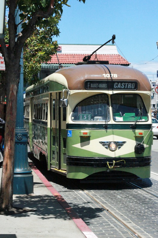 trolley car — california road trip travel san francisco
