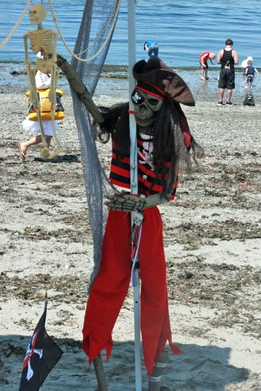 skeleton pirate — Seafair Pirates Landing Alki Beach Seattle summer 2012
