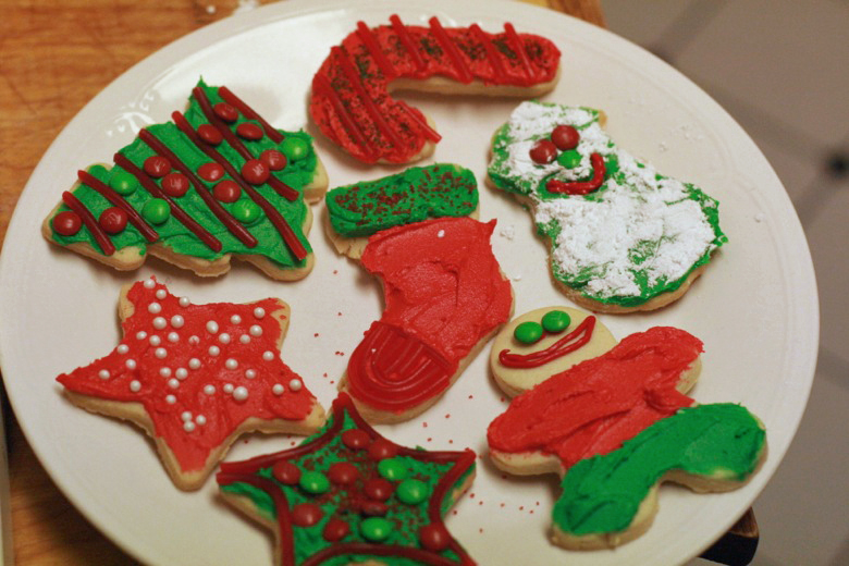 decorated cookies —