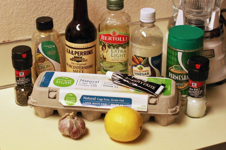 ingredients for Caesar salad dressing recipe cooking photo 20130303_9765_zpsb42dc292.jpg