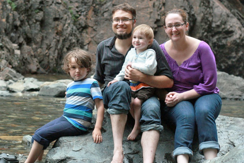 Family at the falls == Hobo Mama