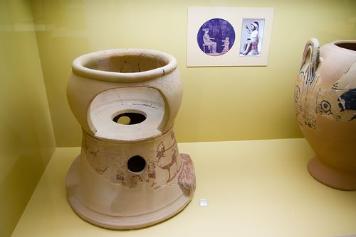 ancient potty chair