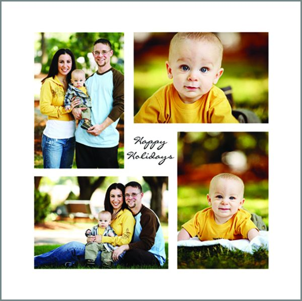 Square Quad Jigsaw holiday card from Photo Card Creations