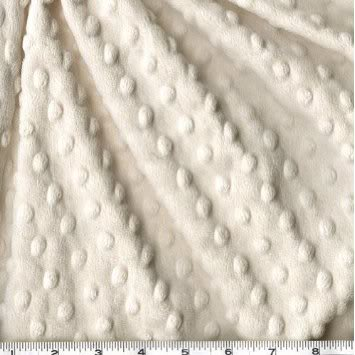 62'' Wide Minky Dimple Dot Ivory Fabric By The Yard
