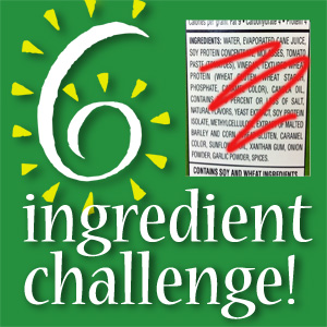 Six Ingredient Challenge button