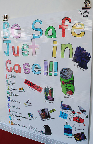 emergency preparedness safety poster by child