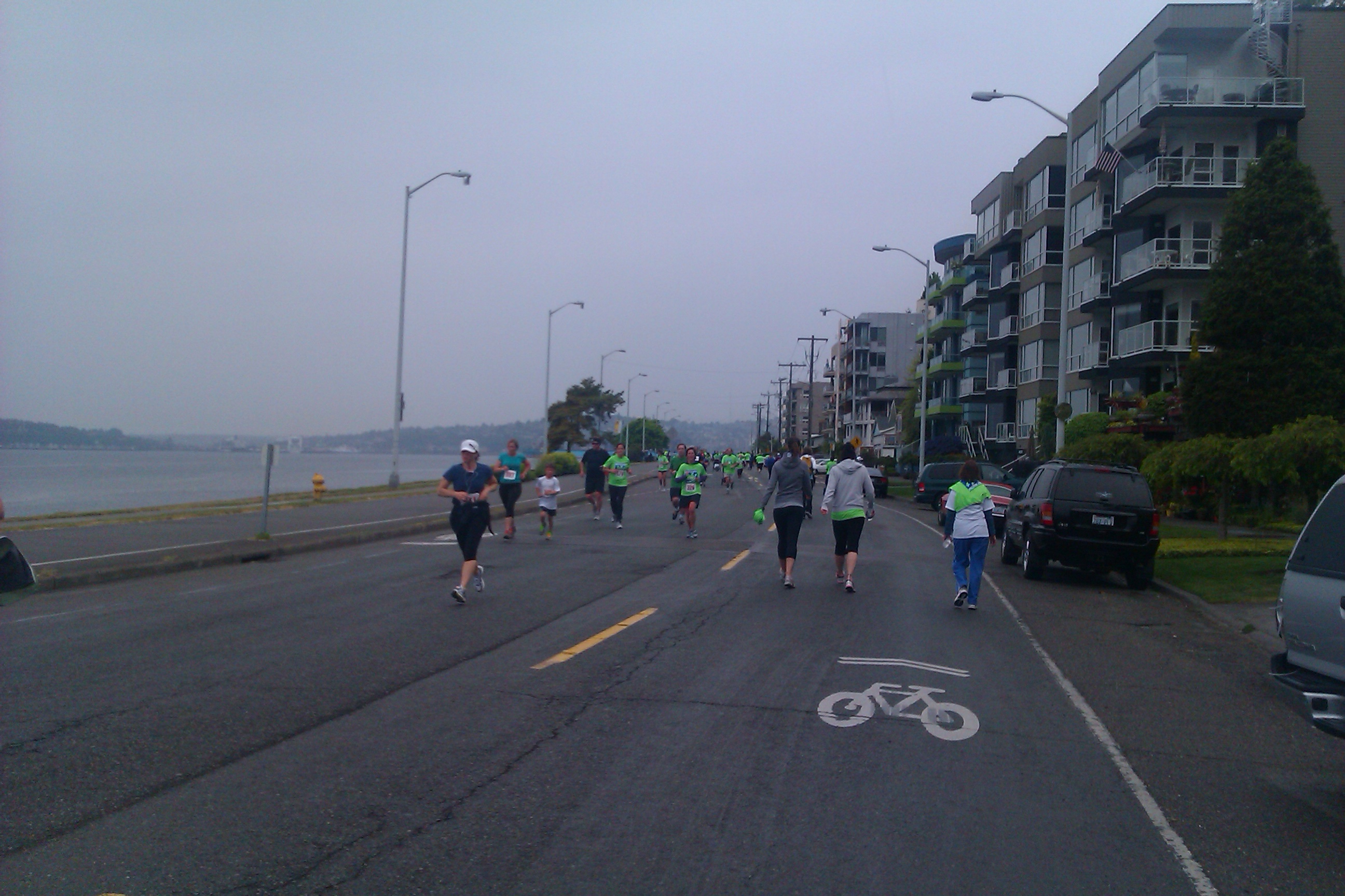 running the West Seattle 5k race