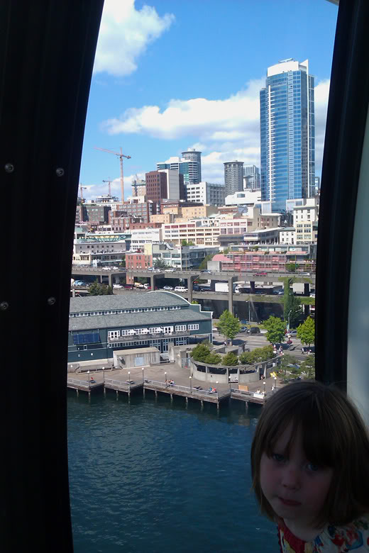 Seattle Great Wheel downtown — view from top