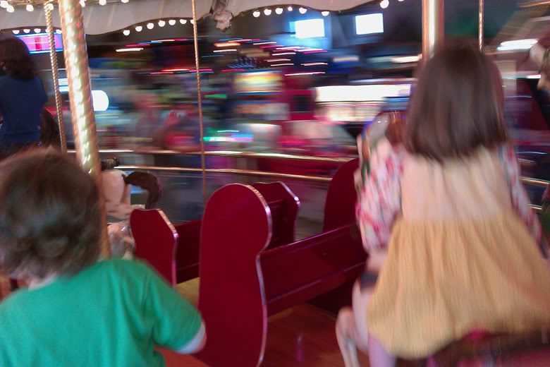 Seattle downtown waterfront arcade carousel — mikko m5yo moira