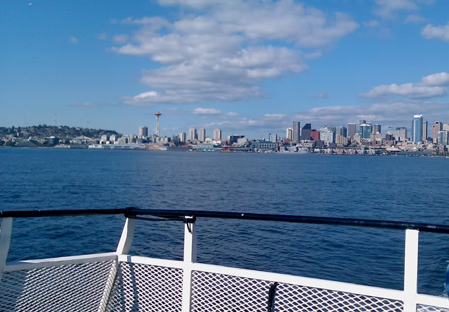 water taxi back from downtown Seattle to West Seattle outdoors