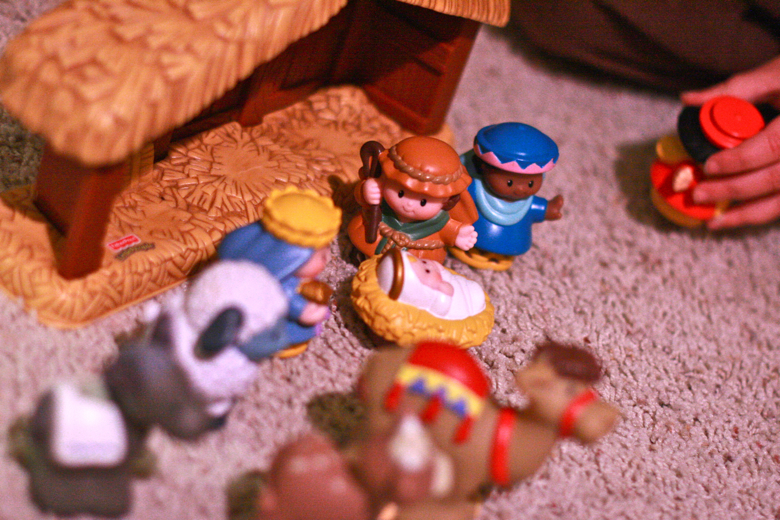 child's Fisher Price Little People nativity set — Christmas 2011