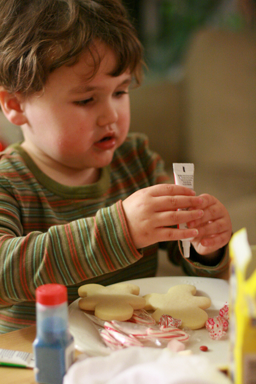 decorating cookies — Christmas 2011