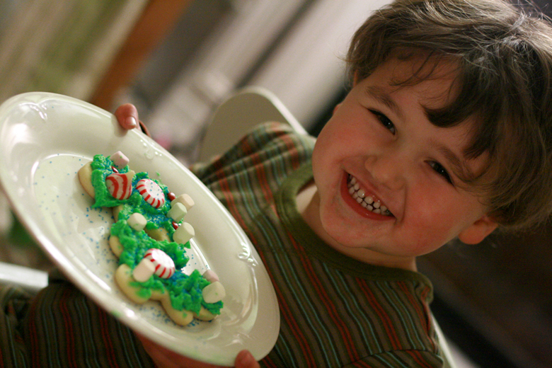 decorated cookies in Diego striped shirt — Tea Collection giveaway