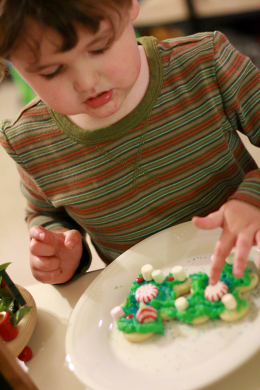 cookie decorating in Diego striped shirt — Tea Collection giveaway