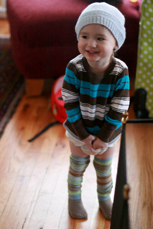 toddler boy smiling in knit hat - alrik a1yo a20mo trip portland travel