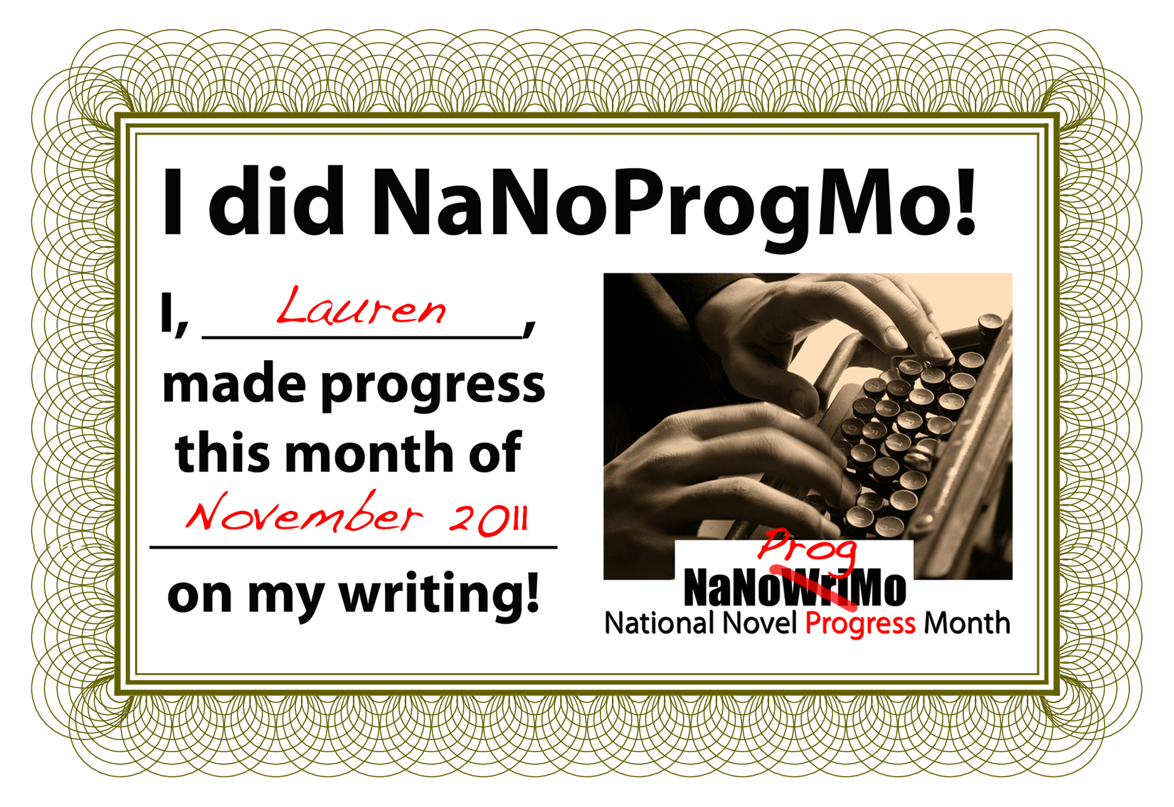 NaNoProgMo with Write On, Mom! and LaurenWayne.com