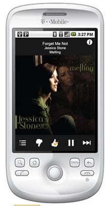 Pandora app on a smartphone