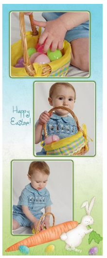 Happy Easter photo collage from JC Penney Portraits