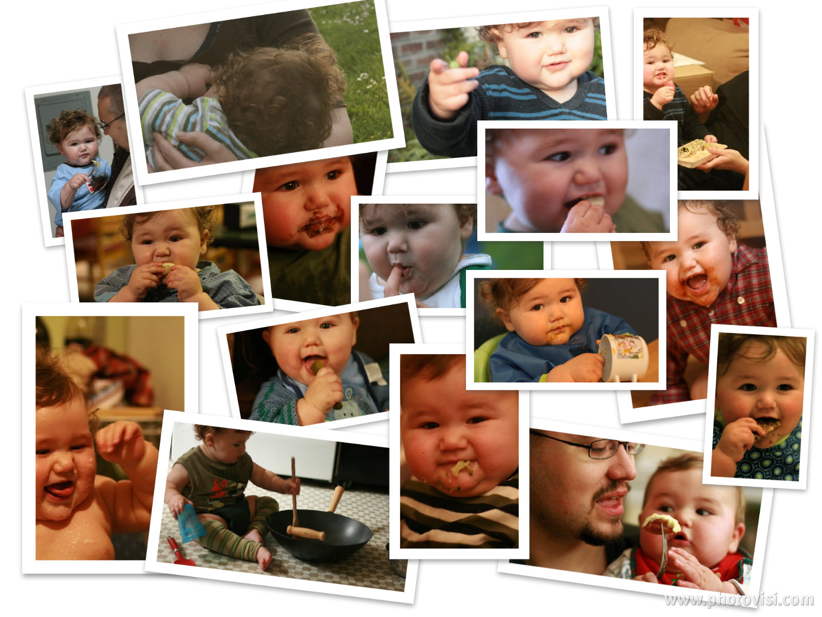 baby eating solids and breastfeeding food collage