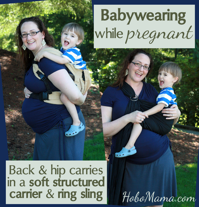 Hobo Mama Babywearing While Pregnant Part 1 Ssc Ring Sling
