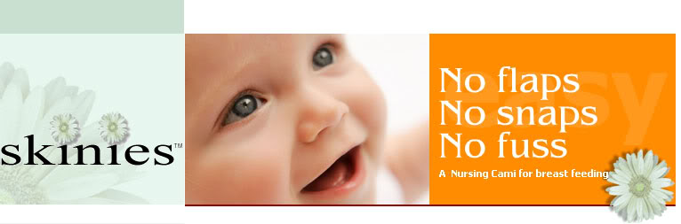 Skinies Open Cup Nursing Cami logo banner