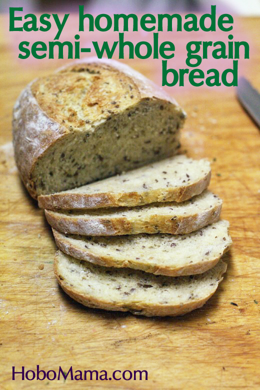 Kid-friendly homemade & healthy bread recipe with whole grains, oats, and flaxseed == no bread machine needed! == Hobo Mama