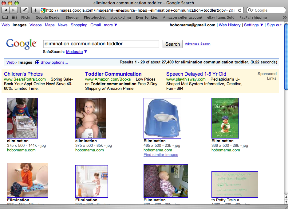 Google Image Search for elimination communication toddler