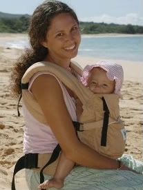 ERGO baby carrier beach