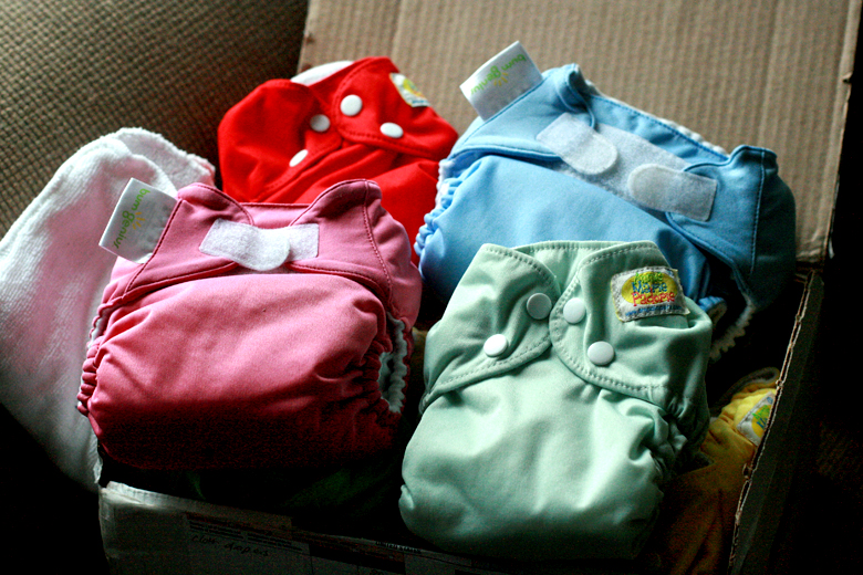 package of cloth diapers