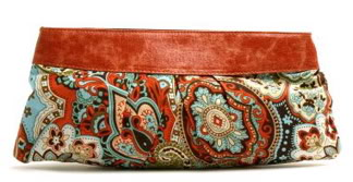 Handbag Heaven Paisley Clutch