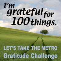 Gratitude Challenge button for Let's Take the Metro