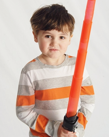 boy with lightsaber Easter portrait 2013 - holidays