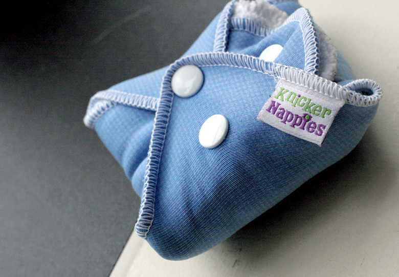 Knickernappies Stackable Menstrual pad bundled and snapped closed