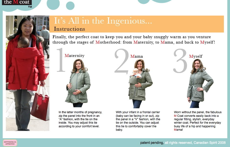 08bf1400e448 Hobo Mama: Babywearing and maternity coat: the easy way