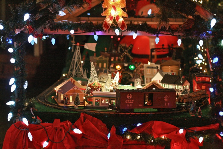 nativity model train set