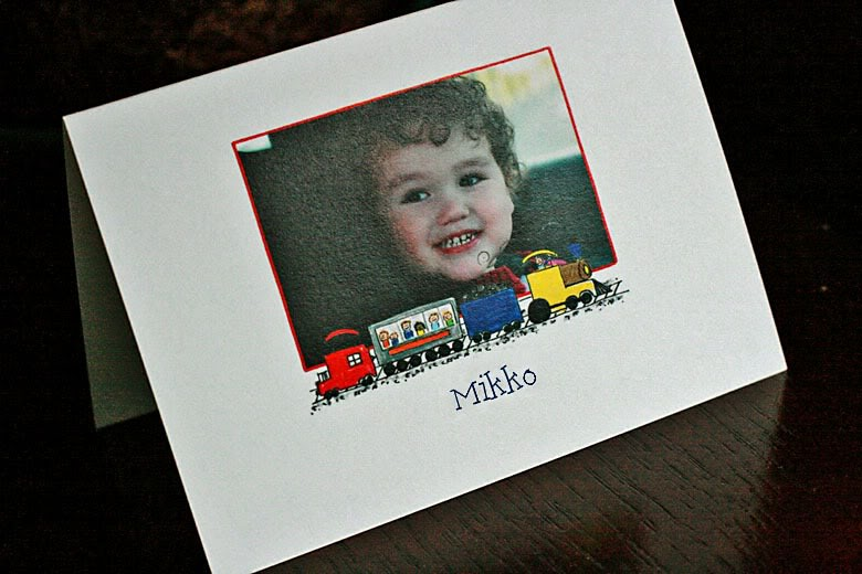 Amy Adele Children's Stationery thank-you photo card with child's name