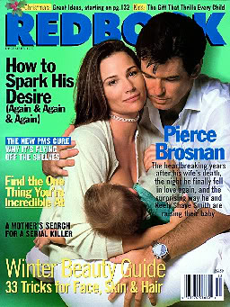 Redbook cover breastfeeding Keely Shaye Smith Pierce Brosnan
