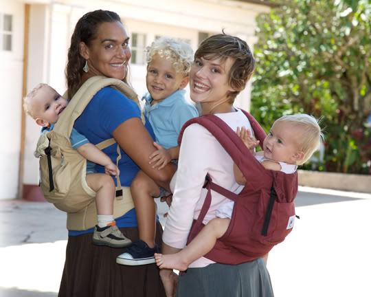 ERGO Baby Carrier multiple babies back carry
